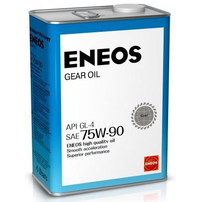 ENEOS масло трансмиссионное GEAR GL-4 75W90 4л