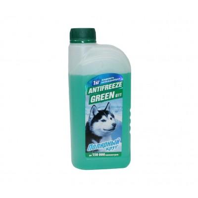 """Жидкость охлаждающая """"Антифриз"""" """"Полярный круг"""" G11 (зеленый) 1 кг"""